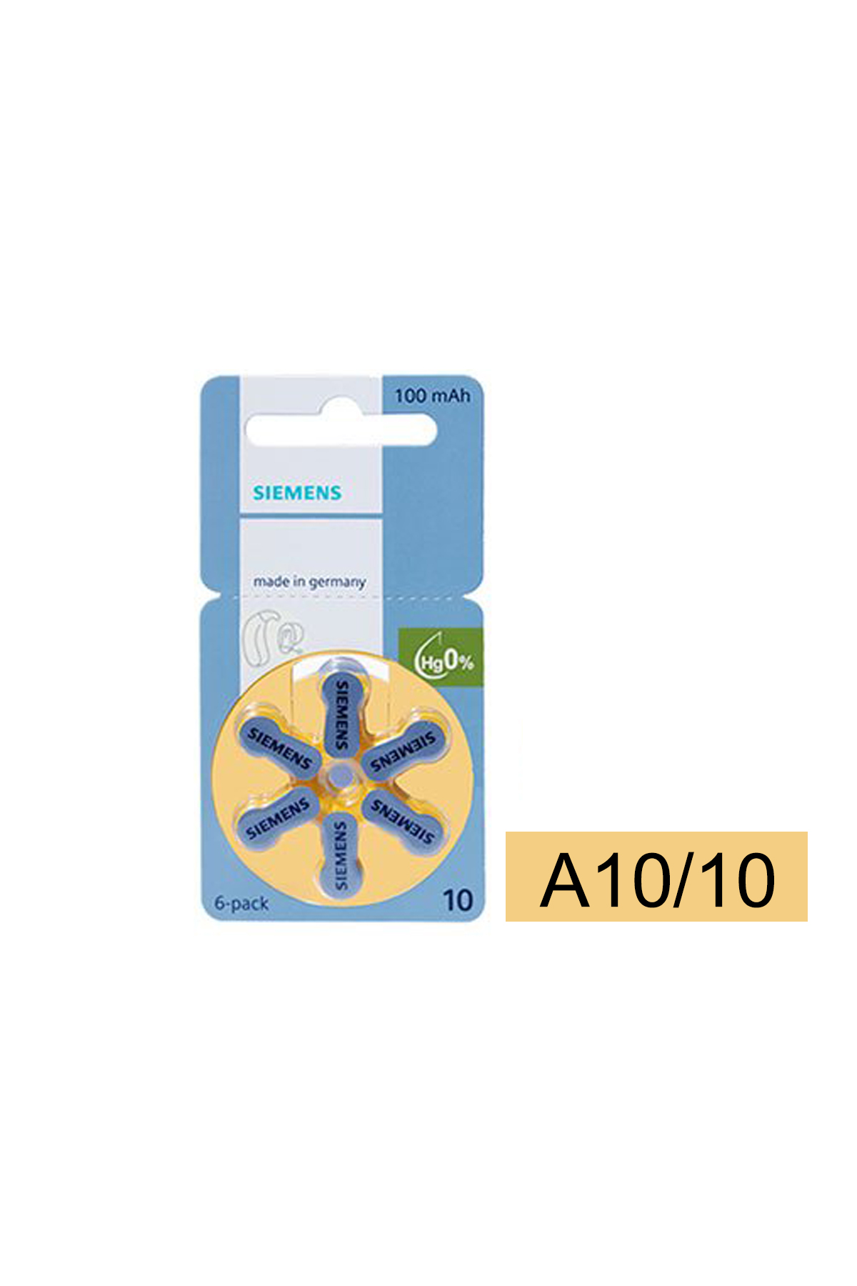 A10/10 鋅空氣電池1盒10排