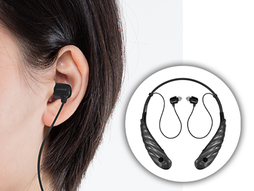 耳寶脖掛型充電式助聽器-6KB-黑色款