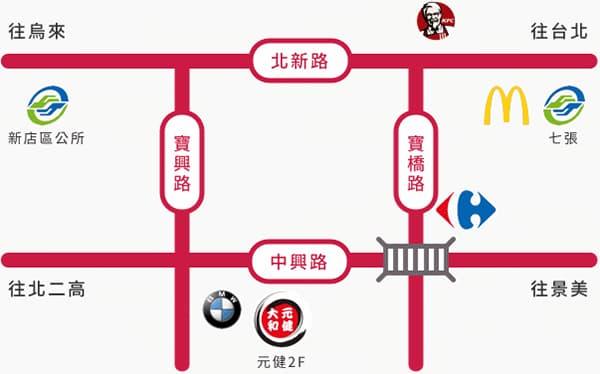 direction-新店